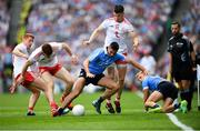 2 September 2018; Cathal McShane, left, Peter Harte, Richard Donnelly, right, of Tyrone in action against James McCarthy, left, and Jonny Cooper of Dublin during the GAA Football All-Ireland Senior Championship Final match between Dublin and Tyrone at Croke Park in Dublin. Photo by Stephen McCarthy/Sportsfile