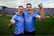 2 September 2018; Eoghan O'Gara, left, and Brian Fenton of Dublin celebrate following the GAA Football All-Ireland Senior Championship Final match between Dublin and Tyrone at Croke Park in Dublin. Photo by Stephen McCarthy/Sportsfile