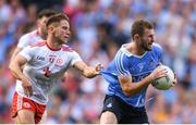 2 September 2018; Jack McCaffrey of Dublin is tackled by Mark Bradley of Tyrone during the GAA Football All-Ireland Senior Championship Final match between Dublin and Tyrone at Croke Park in Dublin. Photo by Eóin Noonan/Sportsfile