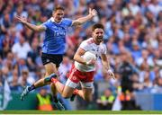 2 September 2018; Pádraig Hampsey of Tyrone is tackled by Michael Fitzsimons of Dublin during the GAA Football All-Ireland Senior Championship Final match between Dublin and Tyrone at Croke Park in Dublin. Photo by Eóin Noonan/Sportsfile