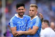 2 September 2018; Cian O'Sullivan, left and Jonny Cooper of Dublin following the GAA Football All-Ireland Senior Championship Final match between Dublin and Tyrone at Croke Park in Dublin. Photo by Eóin Noonan/Sportsfile