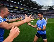 2 September 2018; Cian O'Sullivan, right, and Paul Mannion of Dublin celebrates following the GAA Football All-Ireland Senior Championship Final match between Dublin and Tyrone at Croke Park in Dublin. Photo by Stephen McCarthy/Sportsfile