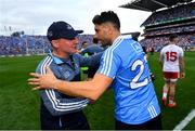 2 September 2018; Dublin manager Jim Gavin and Bernard Brogan following the GAA Football All-Ireland Senior Championship Final match between Dublin and Tyrone at Croke Park in Dublin. Photo by Ramsey Cardy/Sportsfile
