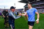 2 September 2018; Dublin manager Jim Gavin and Dean Rock following the GAA Football All-Ireland Senior Championship Final match between Dublin and Tyrone at Croke Park in Dublin. Photo by Ramsey Cardy/Sportsfile