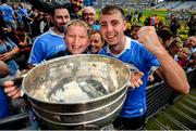 2 September 2018; Dublin's Cormac Costello with supporter Lennon O'Connor, from Coolock, following the GAA Football All-Ireland Senior Championship Final match between Dublin and Tyrone at Croke Park in Dublin. Photo by Stephen McCarthy/Sportsfile