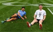 2 September 2018; Cian O'Sullivan of Dublin and Philly McMahon relax on the pitch after the GAA Football All-Ireland Senior Championship Final match between Dublin and Tyrone at Croke Park in Dublin. Photo by Ray McManus/Sportsfile