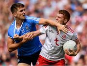 2 September 2018; Peter Harte of Tyrone in action against Michael Fitzsimons of Dublin during the GAA Football All-Ireland Senior Championship Final match between Dublin and Tyrone at Croke Park in Dublin. Photo by Seb Daly/Sportsfile