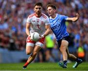 2 September 2018; Pádraig Hampsey of Tyrone in action against Michael Fitzsimons of Dublin during the GAA Football All-Ireland Senior Championship Final match between Dublin and Tyrone at Croke Park in Dublin. Photo by Seb Daly/Sportsfile