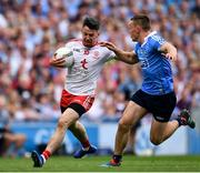 2 September 2018; Mattie Donnelly of Tyrone in action against Con O'Callaghan of Dublin during the GAA Football All-Ireland Senior Championship Final match between Dublin and Tyrone at Croke Park in Dublin. Photo by Seb Daly/Sportsfile