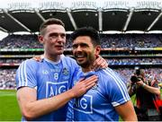 2 September 2018; Brian Fenton celebrates with team mate Cian O'Sullivan of Dublin following the GAA Football All-Ireland Senior Championship Final match between Dublin and Tyrone at Croke Park in Dublin. Photo by Eóin Noonan/Sportsfile