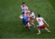 2 September 2018; Brian Howard of Dublin in action against Tyrone players, left to right, Tiernan McCann, Peter Harte, and Colm Cavanagh during the GAA Football All-Ireland Senior Championship Final match between Dublin and Tyrone at Croke Park in Dublin. Photo by Daire Brennan/Sportsfile