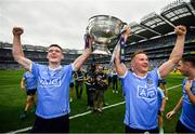 2 September 2018; Brian Fenton, left, and Ciarán Kilkenny of Dublin celebrate with the Sam Maguire following the GAA Football All-Ireland Senior Championship Final match between Dublin and Tyrone at Croke Park in Dublin. Photo by Stephen McCarthy/Sportsfile