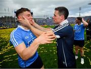 2 September 2018; John Small, left, and Stephen Cluxton of Dublin following the GAA Football All-Ireland Senior Championship Final match between Dublin and Tyrone at Croke Park in Dublin. Photo by Stephen McCarthy/Sportsfile