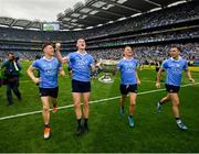 2 September 2018; Dublin players, from left, John Small, Brian Fenton, Ciarán Kilkenny and Cormac Costello celebrate following the GAA Football All-Ireland Senior Championship Final match between Dublin and Tyrone at Croke Park in Dublin. Photo by Stephen McCarthy/Sportsfile