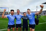 2 September 2018; Dublin players, from left, Cian O'Sullivan, James McCarthy and Dean Rock with Bernard Brogan following the GAA Football All-Ireland Senior Championship Final match between Dublin and Tyrone at Croke Park in Dublin. Photo by Stephen McCarthy/Sportsfile