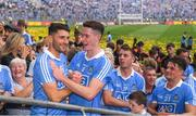2 September 2018; Dublin players Bernard Brogan, Brian Fenton, Cormac Costello and Eric Lowndes after the GAA Football All-Ireland Senior Championship Final match between Dublin and Tyrone at Croke Park in Dublin. Photo by Ray McManus/Sportsfile