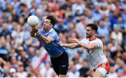 2 September 2018; Michael Darragh Macauley of Dublin in action against Pádraig Hampsey of Tyrone during the GAA Football All-Ireland Senior Championship Final match between Dublin and Tyrone at Croke Park in Dublin. Photo by Stephen McCarthy/Sportsfile