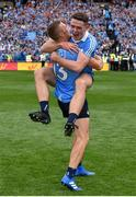 2 September 2018; Brian Fenton, left, and Paul Mannion of Dublin celebrate following the GAA Football All-Ireland Senior Championship Final match between Dublin and Tyrone at Croke Park in Dublin. Photo by Seb Daly/Sportsfile