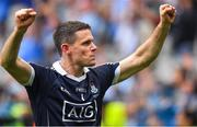 2 September 2018; Stephen Cluxton of Dublin celebrates after the GAA Football All-Ireland Senior Championship Final match between Dublin and Tyrone at Croke Park in Dublin. Photo by Brendan Moran/Sportsfile