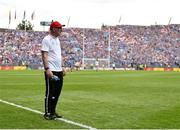 2 September 2018; Tyrone manager Mickey Harte during the GAA Football All-Ireland Senior Championship Final match between Dublin and Tyrone at Croke Park in Dublin. Photo by Seb Daly/Sportsfile