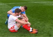 2 September 2018; Ciarán Kilkenny of Dublin consoles after Michael McKernan of Tyrone after the GAA Football All-Ireland Senior Championship Final match between Dublin and Tyrone at Croke Park in Dublin. Photo by Ray McManus/Sportsfile