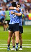 2 September 2018; Cian O'Sullivan and Kevin McManamon of Dublin celebrate after the GAA Football All-Ireland Senior Championship Final match between Tyrone and Dublin at Croke Park in Dublin. Photo by Oliver McVeigh/Sportsfile