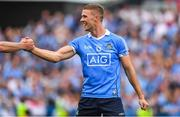 2 September 2018; Paul Mannion of Dublin celebrates with team-mate Brian Fenton after the GAA Football All-Ireland Senior Championship Final match between Dublin and Tyrone at Croke Park in Dublin. Photo by Brendan Moran/Sportsfile