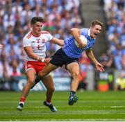 2 September 2018; Michael Fitzsimons of Dublin in action against Michael McKernan of Tyrone during the GAA Football All-Ireland Senior Championship Final match between Dublin and Tyrone at Croke Park in Dublin. Photo by Ray McManus/Sportsfile