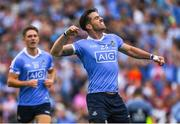 2 September 2018; Michael Darragh Macauley of Dublin reacts after the final whistle in the GAA Football All-Ireland Senior Championship Final match between Dublin and Tyrone at Croke Park in Dublin. Photo by Ray McManus/Sportsfile