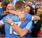 2 September 2018; Paul Mannion of Dublin and his sister Lucy celebrate after the GAA Football All-Ireland Senior Championship Final match between Dublin and Tyrone at Croke Park in Dublin. Photo by David Fitzgerald/Sportsfile
