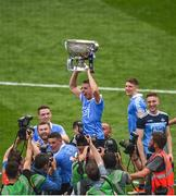 2 September 2018; Cormac Costello of Dublin celebrates with the Sam Maguire cup and team mates following the GAA Football All-Ireland Senior Championship Final match between Dublin and Tyrone at Croke Park in Dublin. Photo by David Fitzgerald/Sportsfile