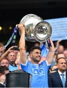 2 September 2018; Bernard Brogan of Dublin lifts the Sam Maguire Cup following the GAA Football All-Ireland Senior Championship Final match between Dublin and Tyrone at Croke Park in Dublin. Photo by Seb Daly/Sportsfile