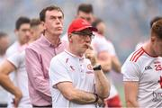 2 September 2018; Tyrone manager Mickey Harte and county secretary Dominic McCaughey, left, dejected after the GAA Football All-Ireland Senior Championship Final match between Dublin and Tyrone at Croke Park in Dublin. Photo by Oliver McVeigh/Sportsfile