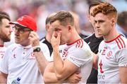 2 September 2018; A disappointed Kieran McGeary of Tyrone after alongside Tyrone Manager Mickey Harte , left, and Conor Myler after the GAA Football All-Ireland Senior Championship Final match between Dublin and Tyrone at Croke Park in Dublin. Photo by Oliver McVeigh/Sportsfile