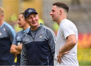 2 September 2018; A happy Dublin Manager Jim Gavin along with Philly McMahon of Dublin after the GAA Football All-Ireland Senior Championship Final match between Dublin and Tyrone at Croke Park in Dublin. Photo by Oliver McVeigh/Sportsfile