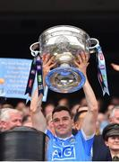 2 September 2018; Paddy Andrews of Dublin lifts the Sam Maguire Cup following the GAA Football All-Ireland Senior Championship Final match between Dublin and Tyrone at Croke Park in Dublin. Photo by Seb Daly/Sportsfile