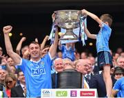 2 September 2018; Cormac Costello of Dublin lifts the Sam Maguire Cup following the GAA Football All-Ireland Senior Championship Final match between Dublin and Tyrone at Croke Park in Dublin. Photo by Seb Daly/Sportsfile