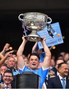 2 September 2018; Eric Lowndes of Dublin lifts the Sam Maguire Cup following the GAA Football All-Ireland Senior Championship Final match between Dublin and Tyrone at Croke Park in Dublin. Photo by Seb Daly/Sportsfile