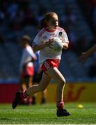 2 September 2018; SÌofra Hession, Gaelscoil de hÕde, Co Roscommon, representing Tyrone, during the INTO Cumann na mBunscol GAA Respect Exhibition Go Games at the Electric Ireland GAA Football All-Ireland Minor Championship Final match between Kerry and Galway at Croke Park in Dublin. Photo by Seb Daly/Sportsfile