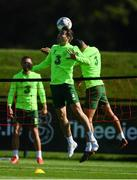 3 September 2018; Séamus Coleman, left, and Graham Burke during Republic of Ireland squad training at the the FAI National Training Centre in Abbotstown, Dublin. Photo by Stephen McCarthy/Sportsfile