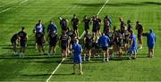 3 September 2018; Scrum coach John Fogarty and contact skills coach Hugh Hogan set up a drill during Leinster rugby squad training at Energia Park in Dublin. Photo by Brendan Moran/Sportsfile