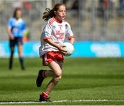 2 September 2018; Síofra Hession, Gaelscoil de hÍde, Co Roscommon, representing Tyrone, during the INTO Cumann na mBunscol GAA Respect Exhibition Go Games at the Electric Ireland GAA Football All-Ireland Minor Championship Final match between Kerry and Galway at Croke Park in Dublin. Photo by Oliver McVeigh/Sportsfile