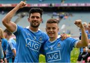 2 September 2018; Cian O'Sullivan and Eoin Murchan of Dublin celebrate after the GAA Football All-Ireland Senior Championship Final match between Dublin and Tyrone  at Croke Park in Dublin. Photo by Oliver McVeigh/Sportsfile