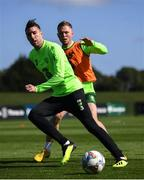 3 September 2018; Stephen Ward and Aiden O'Brien, right, during Republic of Ireland squad training at the FAI National Training Centre in Abbotstown, Dublin. Photo by Stephen McCarthy/Sportsfile