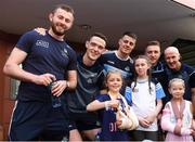 3 September 2018; Dublin footballers, from left, Jack McCaffrey, Brian Fenton, Brian Howard, and Paddy Small, and selector Paul Clarke with children during the All-Ireland Senior Football Champions visit to Our Lady's Children's Hospital, Crumlin in Dublin. Photo by Piaras Ó Mídheach/Sportsfile