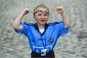 3 September 2018; Dublin supporter Elis Gantley, age 5, from Dublin City, during the Dublin All-Ireland Football Winning team homecoming at Smithfield in Dublin. Photo by David Fitzgerald/Sportsfile