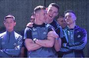 3 September 2018; Ciarán Kilkenny and Brian Fenton, right, during the Dublin All-Ireland Football Winning team homecoming at Smithfield in Dublin. Photo by David Fitzgerald/Sportsfile