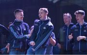 3 September 2018; Cormac Costello and team-mates during the Dublin All-Ireland Football Winning team homecoming at Smithfield in Dublin. Photo by David Fitzgerald/Sportsfile