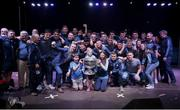 3 September 2018; The Dublin squad with the Sam Maguire Cup during the Dublin All-Ireland Football Winning team homecoming at Smithfield in Dublin. Photo by David Fitzgerald/Sportsfile
