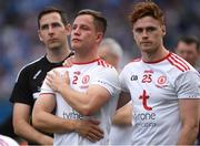 2 September 2018; Tyrone players Michael McKernan, left, and Conor Meyler dejected after the GAA Football All-Ireland Senior Championship Final match between Dublin and Tyrone at Croke Park in Dublin. Photo by Piaras Ó Mídheach/Sportsfile